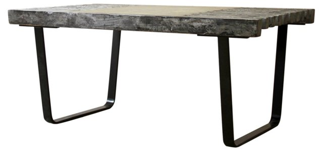 "Rohe 42"" Bench, Black/Silver"