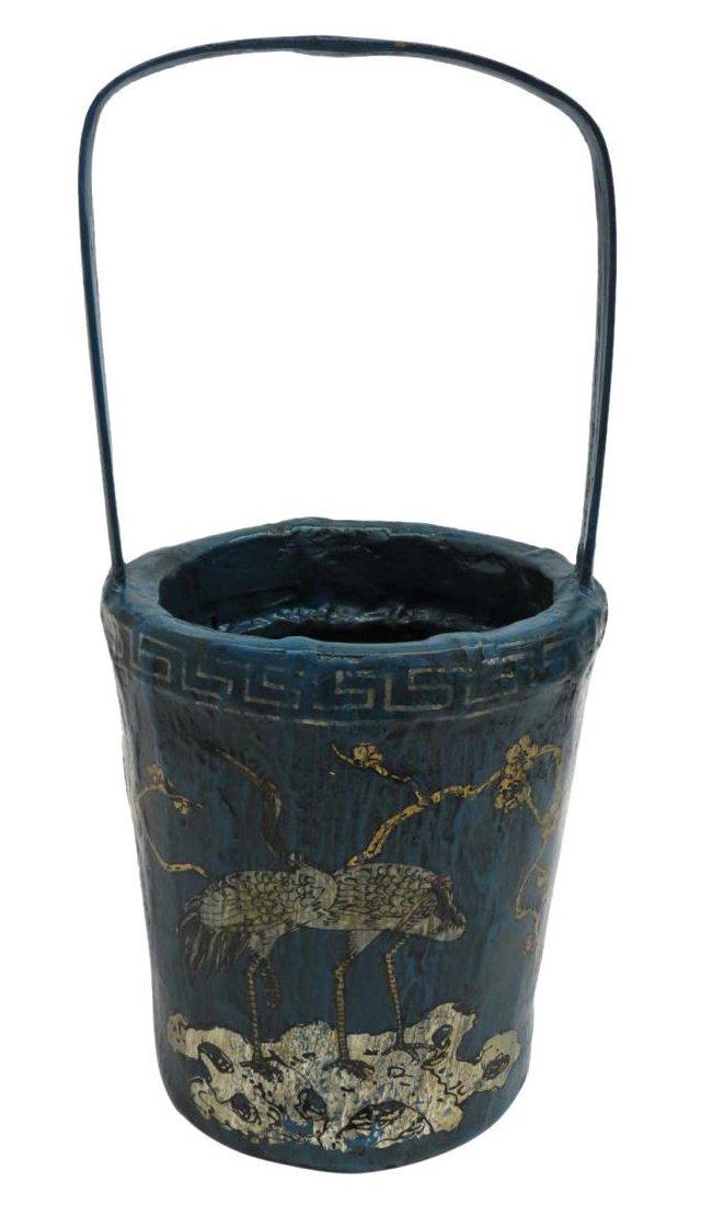 Crane Bamboo Basket, Blue