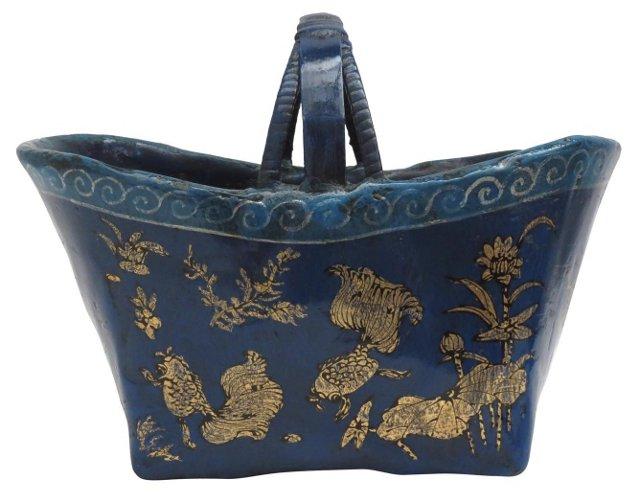 Lotus Bamboo Durian Basket II, Blue