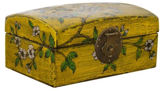 Blossom Elm Pillow Box, Yellow