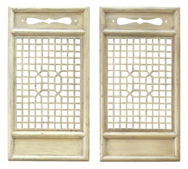 Cream Ina Room Screens, Pair
