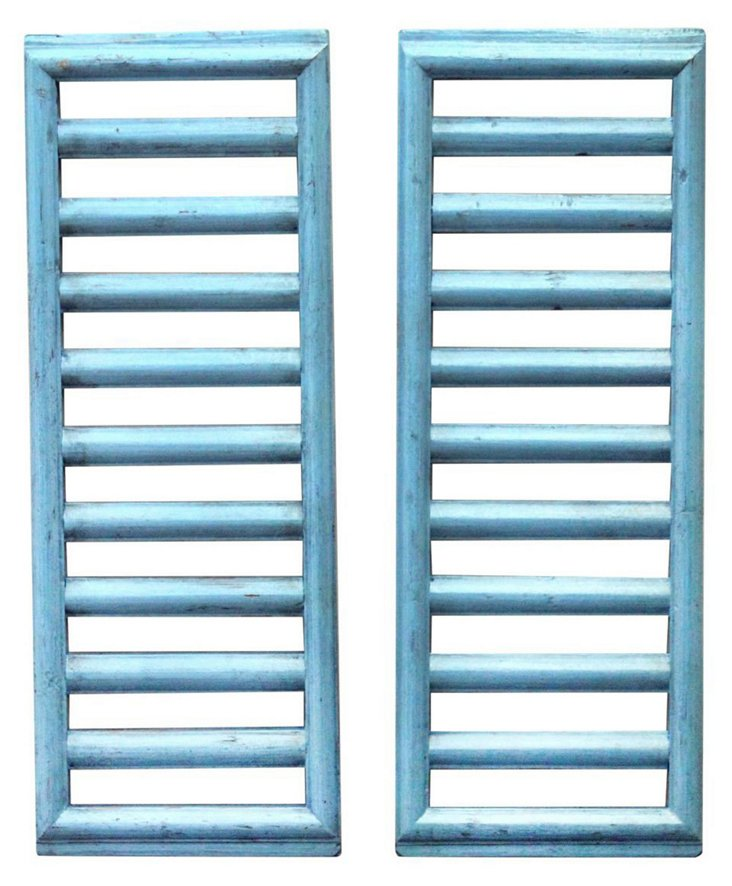 Blue Opium Ladder Room Screen, Pair
