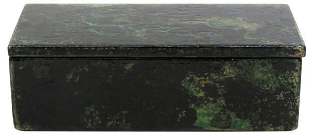 Rustic Wooden Cigar Box, Emerald