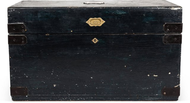 Antique Black Trunk