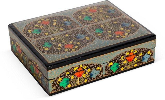 Floral Lacquer Box
