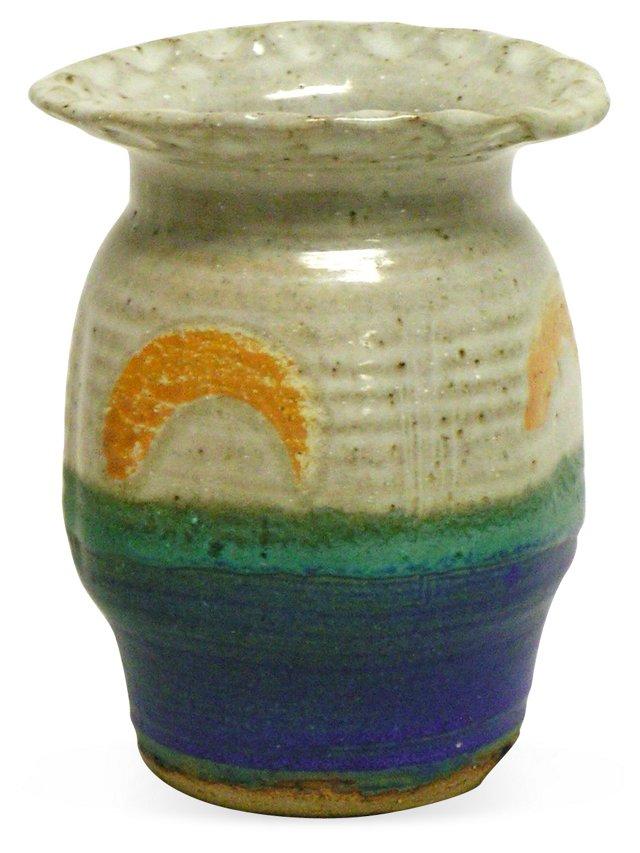 Stamped Art Pottery Vase