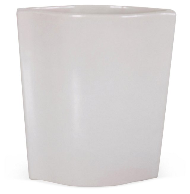 Contemporary White Oblong Vase