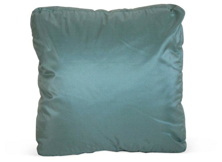 Baby-Blue Silk Pillow