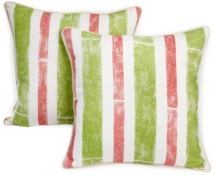 Pavilion Stripe Pillows, Pair