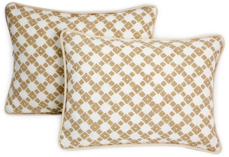 Michael Devine Sutton Pillows, Pair