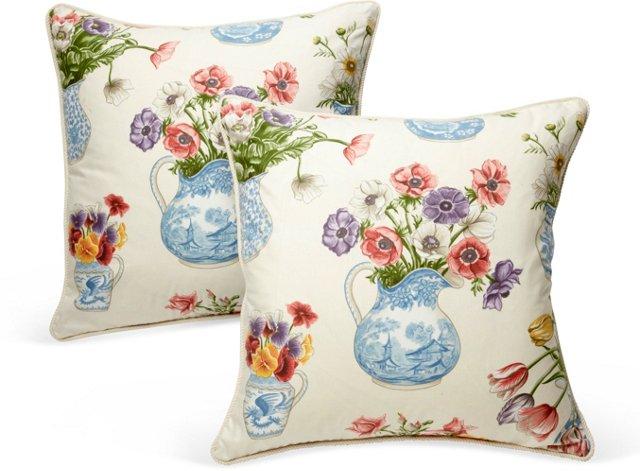 Anenome Pillows, Pair