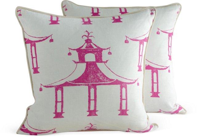 Garden Folly Pillows, Pair