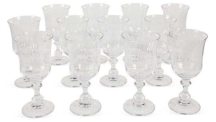 Crystal Goblets, S/12
