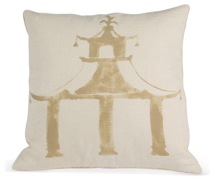 Michael Devine Hand-Stenciled Pillow