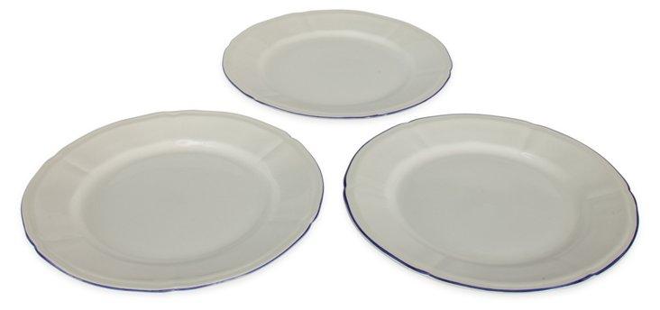 Tiffany Plates, S/3