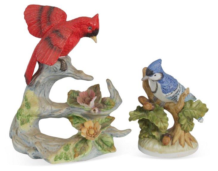 Bird Figurines, Set of 2