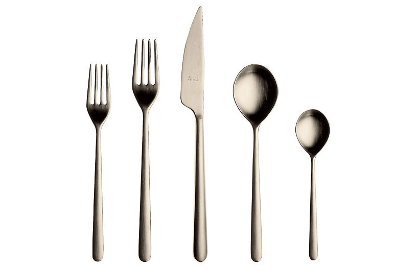 5-Pc Linea Place Setting, Champagne