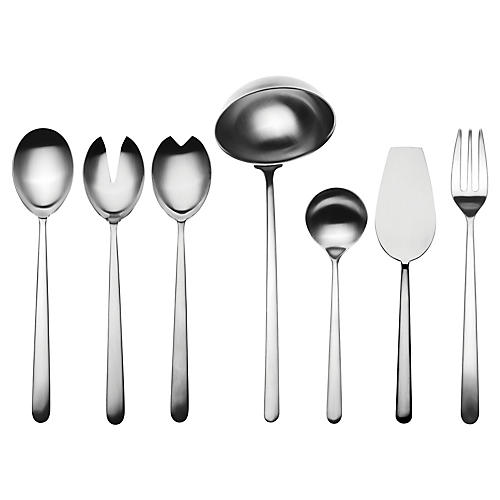 Asst. of 7 Linea VII Serving Set, Dark Gray