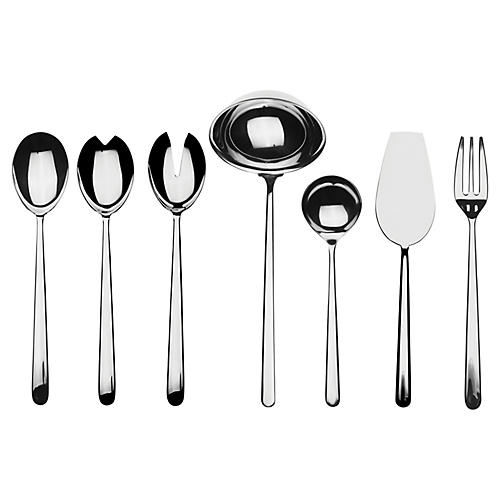 Asst. of 7 Linea VII Serving Set, Silver