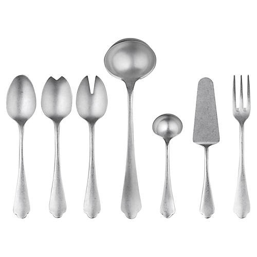 Asst. of 7 Dolce Vita Serving Set, Pewter