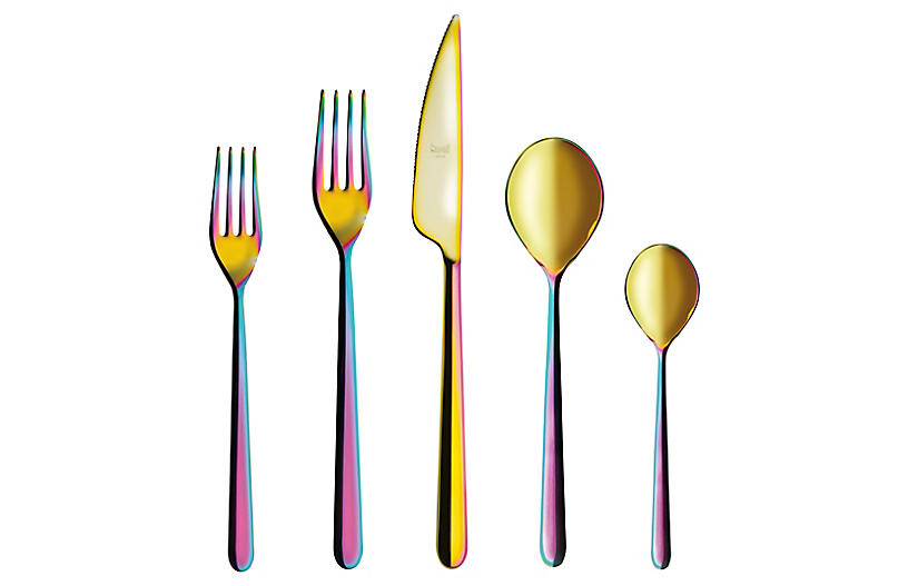 5-Pc Linea Place Setting, Rainbow