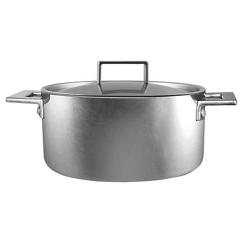 Attiva Casserole Pot w/Lid, Silver