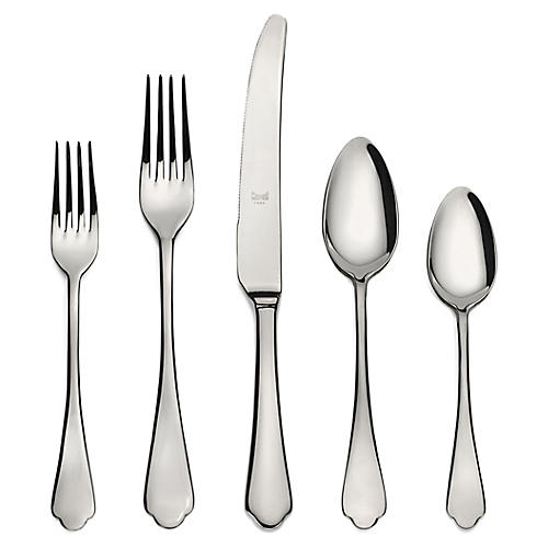 5-Pc Dolce Vita Place Setting, Silver