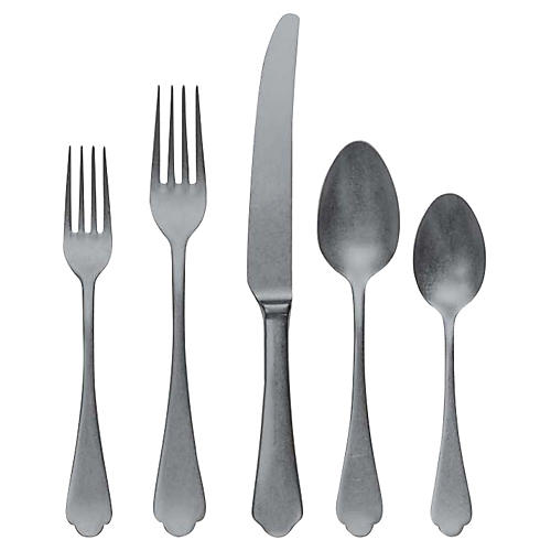 5-Pc Dolce Vita Place Setting, Pewter