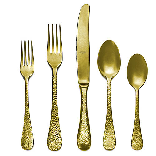 5-Pc Epoque Place Setting, Gold/Silver