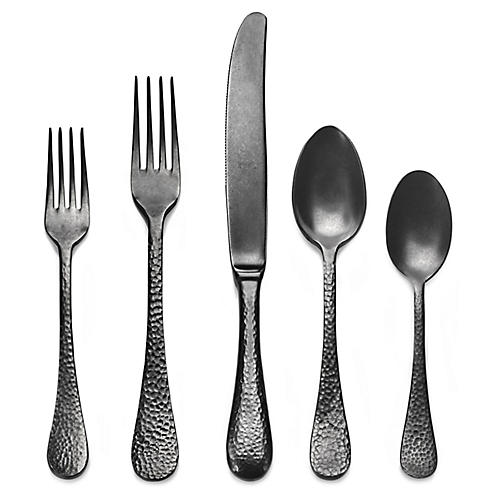 5-Pc Epoque Place Setting, Charcoal