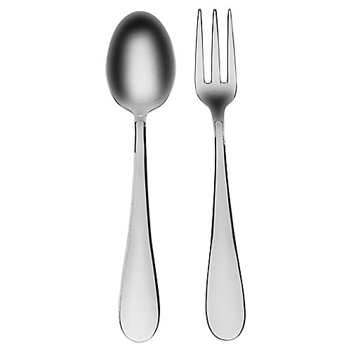 Asst. of 2 Natura Serving Set, Silver