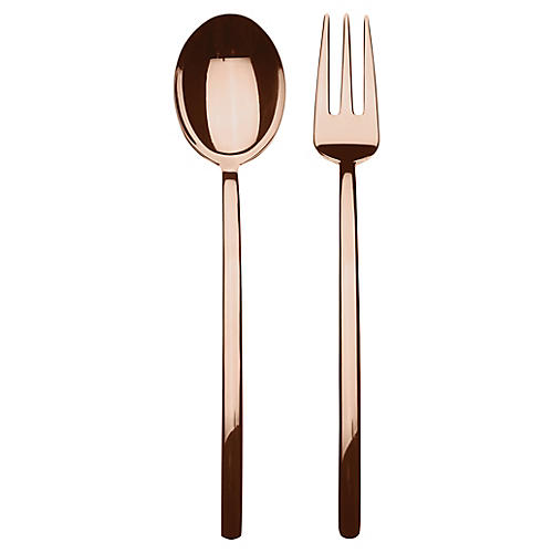 Asst. of 2 Due II Serving Set, Bronze