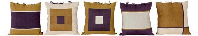 Balinese Cotton Pillows, Set of 5