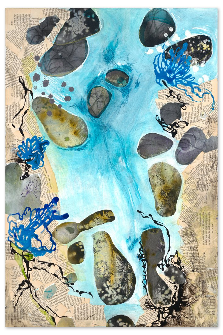 Deb Haugen, Creek Bed Collage