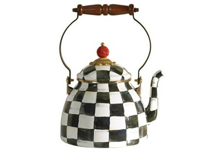 Courtly Check Teakettle, Two Quart