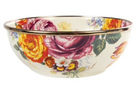 Flower Market Everyday Bowl, White