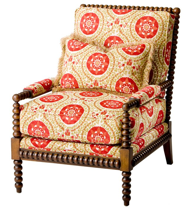 Helen Spindle Armchair, Poppy/Marigold