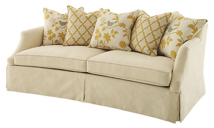"Muse 86"" Sofa, Cream"