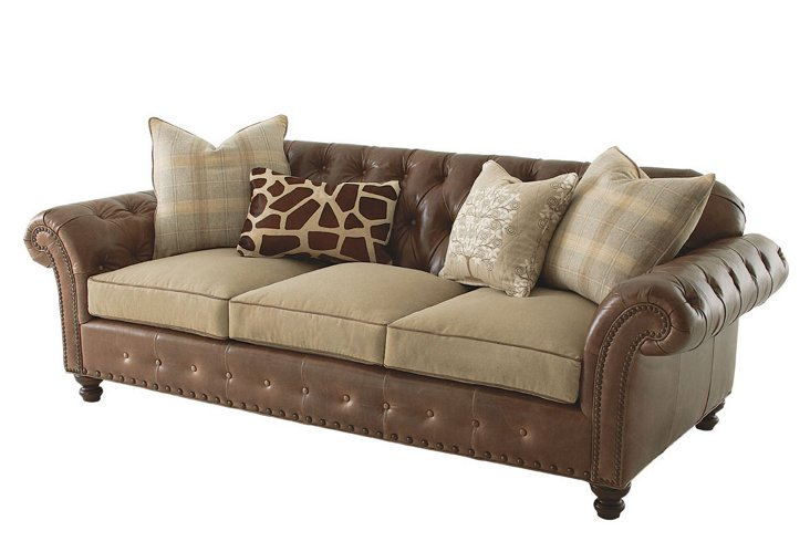 Beverly Chesterfield Sofa, Tan