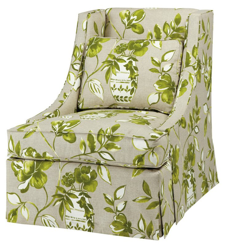 Cheryl Swivel Chair, Green