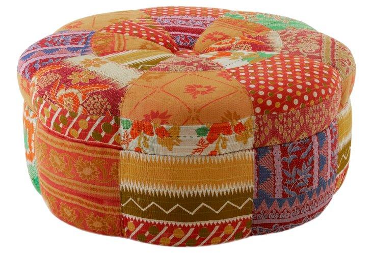 Saroya Warm-Colored Ottoman