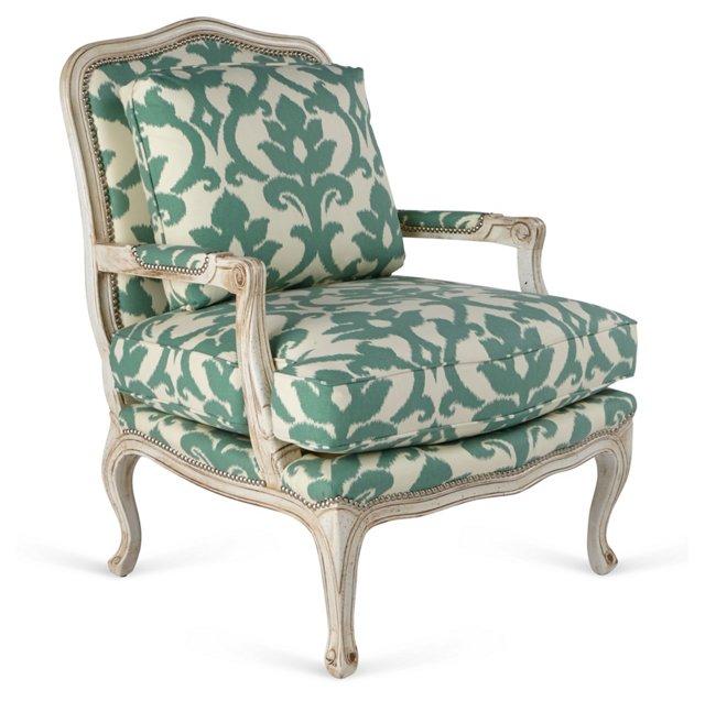 Harper Bergère, Green/Ivory Jardin
