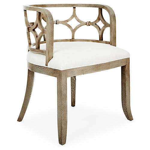 Lily Chair, Ivory Linen