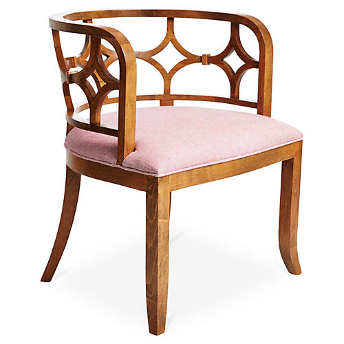 Lily Chair, Pink Woven