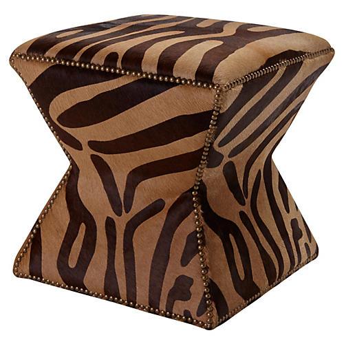 Althea Stool, Brown Zebra