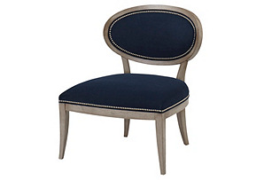 Alexis Side Chair, Navy
