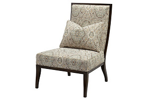 Mary Side Chair, Beige/Multi