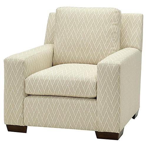 Beaman Club Chair, Cream