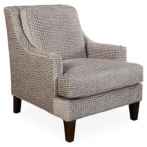 Lamor Club Chair, Gray Spots