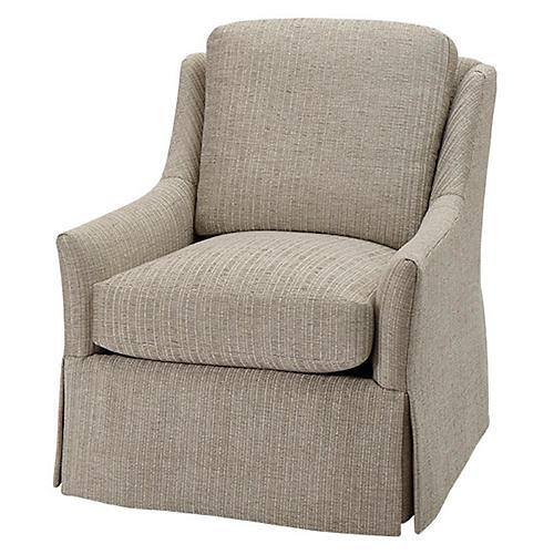 Merril Swivel Chair, Dove Gray